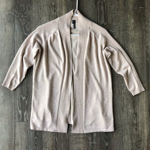 Maurice's Tan Sweater with Ribbed Detail
